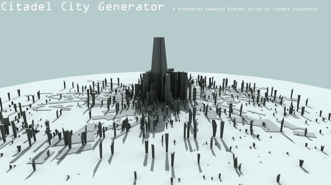 Procedural City Generation Python – Fondos de Pantalla